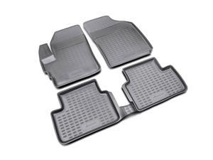 Novline 08.14.210 Chevrolet Spark Floor Mats- 2013-2014 - 4 Piece Set - Black