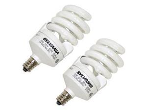 Sylvania 26941 - CF13EL/MICRO/827/C/BL/2PK Twist Candelabra Screw Base Compact Fluorescent Light Bulb