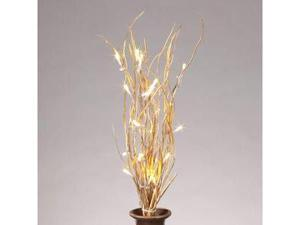 "Gerson 37909 - 20"" Gold Willow Battery Operated LED Lighted Branch with Timer (25 Warm White Lights)"