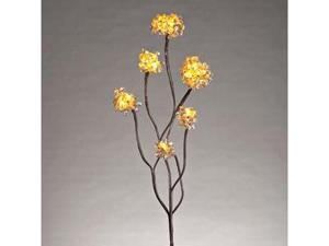 "Gerson 38620 - 31"" Gold Acrylic Hydrangea Battery Operated LED Lighted Branch with Timer (12 Warm White Lights)"