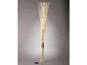 "Gerson 38622 - 48"" Bleached Straight Willow Battery Operated LED Lighted Branch with Timer (60 Warm White Lights)"