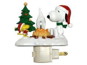 "Roman 46664 - 4.25"" Snoopy Woodstock Christmas Campfire Flickering Night Light (4.25"" SNOOPY WOODSTOCK CAMPFIRE NIGHT LIGHT)"
