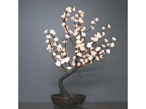 "Light Garden 00041 - 30"" White Bonsai Electric Lighted Tree with Bowl (128 White Lights)"