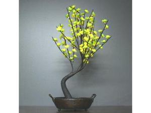 "Light Garden 00043 - 30"" Green Bonsai Electric Lighted Tree with Bowl (128 White Lights)"