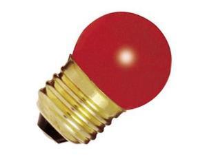 Satco 04511 - 7 1/2S11/R S4511 Standard Screw Base Colored Scoreboard Sign Light Bulb