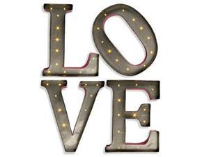 """15"""" - Metal - LED - Lighted """"LOVE"""" Letters 