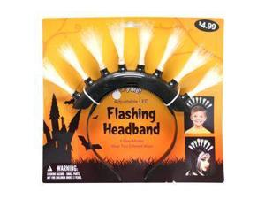 "Gerson 39958B - 12"" Black Battery Operated Flashing LED Mohawk Headband (Batteries Included) for Halloween"