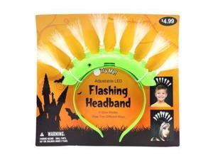 """Gerson 39958G - 12"""" Green Battery Operated Flashing LED Mohawk Headband (Batteries Included) for Halloween"""