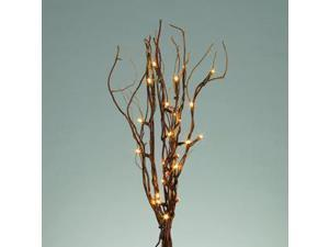 """Gerson 41655 - 20"""" NATURAL WILLOW BRANCHES 25WW LEDS B/O AND ADAPTABLE Battery Operated Willow Lighted Branches"""