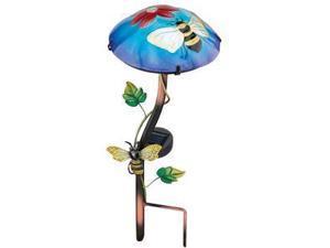 """Regal Art & Gift 10638 - 15.75"""" x 6.5"""" Bee Mushroom Stake Solar LED Light"""