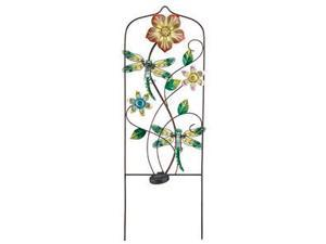 "Regal Art & Gift 10643 - 36"" x 12"" Green Dragonfly Garden Trellis Stake (Color Changing) Solar LED Light"