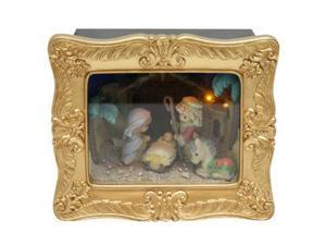 Precious Moments 01175 - Delux Shadow Box: Nativity Musical LED (141110)