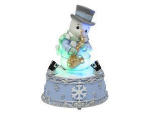 Precious Moments 01177 - Snowman Playing Saxophone Musical LED (141112)