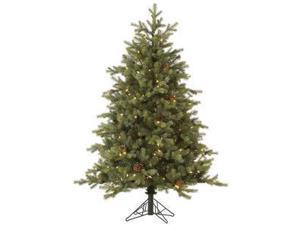 "Vickerman 32799 - 14' x 121"" Rocky Mountain Fir 3,400 Clear DuraLit Miniature Lights with Pine Cones Christmas Tree (A145796)"