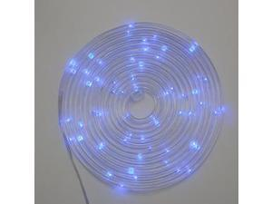 Gerson 93023 - 15' 60 Blue Micro LEDs Silver Wire Battery Operated Multifunction Clear Rope Light with Timer