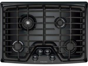 """30"""" Gas Cooktop with 4 Sealed Burners, Min-2-Max Burner, Continuous Grates and ADA Compliant: Black"""