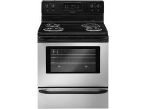 "30"" standing Electric Range with 4 Coil Elements, 5.3 cu. ft. Self-Clean Oven, Timed Cook Option, Lockout, Interior Light and Storage Drawer: Silver Mist"