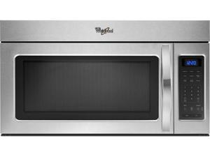1.7 cu. ft. Over-the-Range Microwave Oven with 220 CFM Vent System, 2-Speed Fan, 1,000 Watts, 2 Stage Cooking and Blue LED Display: Stainless Steel