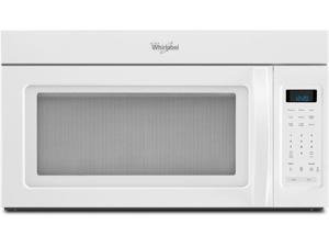 1.7 cu. ft. Over-the-Range Microwave Oven with 220 CFM Vent System, 2-Speed Fan, 1,000 Watts, 2 Stage Cooking and Blue LED Display: White