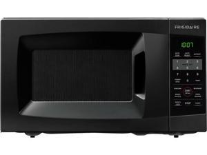 0.7 cu. ft. Countertop Microwave Oven with 700 Cooking Watts, 6 Quick Start One-Touch Options, Auto-Cook/Reheat Options and Glass Turntable: Black