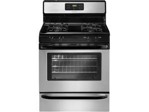 "30"" standing Gas Range with 4 Sealed Burners, Quick Boil Burner, Low-Simmer Burner, 5.0 cu. ft. Capacity, Ready-Select Controls and Storage Drawer: Stainless Steel"