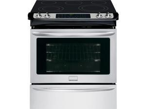 "30"" Slide-in Smoothtop Electric Range with 5 Heating Elements, Warming Zone, 4.6 cu. ft. True Convection Oven, Steam Clean, Quick Preheat and Storage Drawer: Stainless Steel"