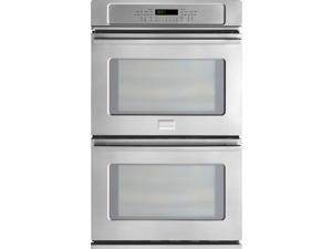 "30"" Double Electric Wall Oven with 4.6 cu. ft. Dual Convection Ovens, Steam Cleaning, PowerPlus Preheat, Delay Start, Auto Shut-Off and Temperature Probe"