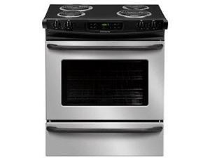 "30"" Slide-in Electric Range with 4 Coil Elements, 4.6 cu. ft. Self-Clean Oven, Delay Clean, Delay Start, Hi/Lo Broil Option and Auto Oven Shut-Off: Stainless Steel"