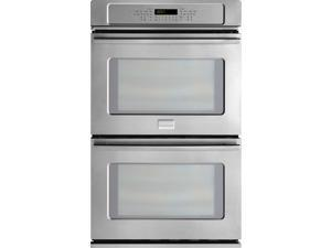 "27"" Double Electric Wall Oven with 3.8 cu. ft. True Convection Ovens, Steam Cleaning, PowerPlus Preheat, Delay Start, Auto Shut-Off and Temperature Probe"