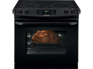 "30"" Drop-in Smoothtop Electric Range with 4 Heating Elements, 4.6 cu. ft. Self-Clean Oven, Delay Clean, Delay Start, Hi/Lo Broil Option and Auto Oven Shut-Off: Black"
