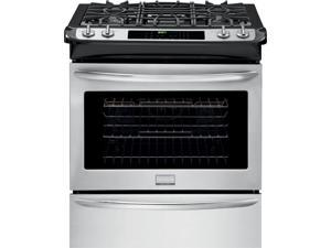 "30"" Slide-in Gas Range with 4 Sealed Burners, 4.5 cu. ft. True Convection Oven, Self-Clean, Auto Shut-Off, Quick Preheat, Temperature Probe and Storage Drawer: Stainless Steel"