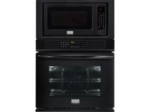 "27"" Combination Wall Oven with 3.8 cu. ft. True Convection Oven, 2.0 cu. ft. Microwave, Steam Clean, Quick Preheat, Keep Warm Setting and Temperature Probe: Black"