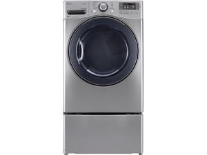 "27"" Front-Load Electric Dryer with 7.4 cu. ft. Capacity, 12 Dry Cycles, 10 Options, Steam Dry, Sensor Dry System, NFC Tag On and Alcosta Steel Drum: Graphite Steel"
