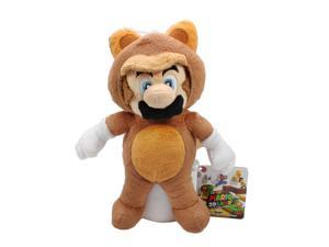 Plush Super Mario Plush Series Plush Doll: 8 inch Tanooki Mario (S) Plushie toy Super Mario