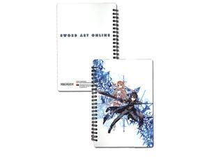 Notebook: Sword Art Online - Asuna and Kirito Spiral bound paper pad ~8x5.5 inch GE Animation