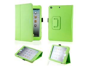 Green Magnetic PU Leather Folio Stand Case Cover with Stylus Holder for iPad Mini and iPad Mini with Retina Display - OEM