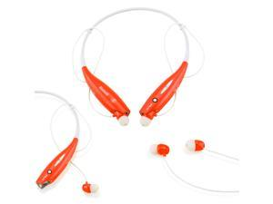 GEARONIC TM Wireless Sport Stereo Headset Bluetooth Earphone headphone for Samsung LG iPhone -Red