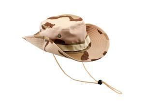 Fishing Hunting Bucket Hat Boonie Outdoor Cap Washed Cotton Military Safari Summer Men - Land Camouflage