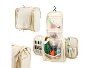 Travel Toiletry wash bag Organizer Accessory Cosmetics Medicine MakeUp Shaving Kit Bag Holder - Khaki