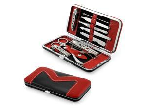 Gearonic 10 piece Manicure Pedicure Set Nail Clippers Cuticle Beauty Care Grooming Kit with Case