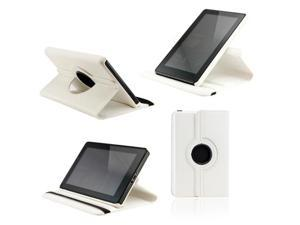 White 360 Degree Rotating Leather Case Cover with Swivel Stand for Amazon 2011 Kindle Fire