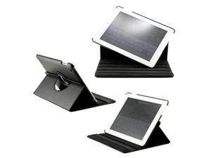 360 Degree Rotating Duel Layer Black Leather case with smart Cover function for The New iPad 3 3rd iPad 2 Gen - OEM