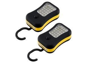 2 x Portable Super Bright 28 LED Magnetic Hanging Hook Flashlights Spot Lights