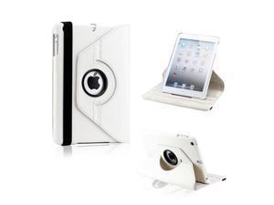 White 360 Degree Rotating PU Leather Case Smart Cover Swivel Stand for iPad Mini and 2013 iPad Mini with Retina Display - OEM