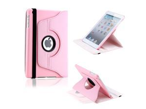 Pink 360 Degree Rotating PU Leather Case Smart Cover Swivel Stand for iPad Mini and 2013 iPad Mini with Retina Display - OEM