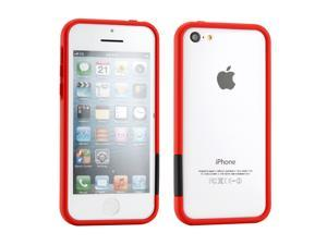 GEARONIC TM Red Hard PC Frame Bumper Case Cover with Rubberized Coating For iPhone SE 5 5C 5S