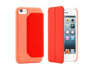 Red PU Leather Flip Flap Cover Case with stand compatible with Apple® iPhone® 5C