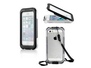 Gearonic ™ Waterproof and Shockproof Dirt Proof Snow Proof Durable Case Cover Shell for Apple iPhone 5 5S 4 4S - Black