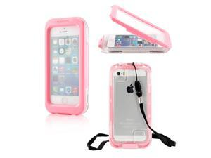 Gearonic ™ Waterproof and Shockproof Dirt Proof Snow Proof Durable Case Cover Shell for Apple iPhone 5 5S 4 4S - Pink