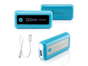 Gearonic ™ 5600mAh Universal Power Bank Backup External Battery Pack Portable USB Charger - Blue